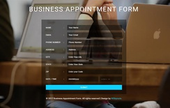 Business Appointment Form a Flat Responsive Widget Template