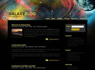 Galaxy Free CSS Template