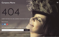 Fashion Error Page a Flat Responsive Widget Template