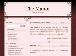 The Manor Free CSS Template