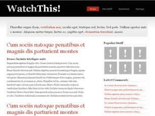 WatchThis Free CSS Template