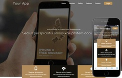 Your App a Mobile App based Flat Bootstrap Responsive Web Template