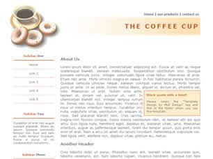 The Coffee Cup Free CSS Template