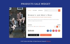 Products Sale Widget Flat Responsive Widget Template