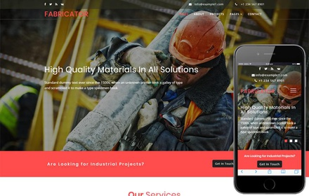 Fabricator an Industrial Category Bootstrap Responsive Web Template
