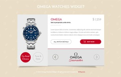 Omega Watches Responsive Widget Template