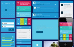 Metro Tiles UI Kit Responsive template
