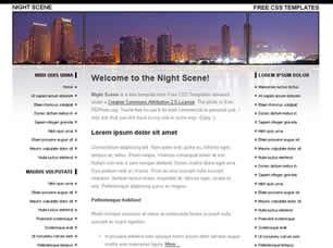 Night Scene Free CSS Template