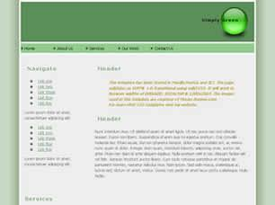 Simply Green Free CSS Template