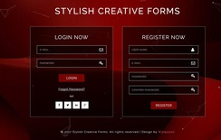 Stylish Creative Forms Flat Responsive Widget Template