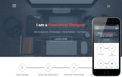 Freelance a Onepage Portfolio Flat Bootstrap Responsive Web Template