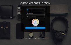 Customer Signup Form Flat Responsive Widget Template