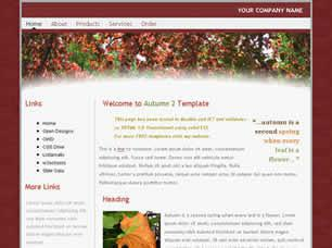 Autumn 2 Free CSS Template