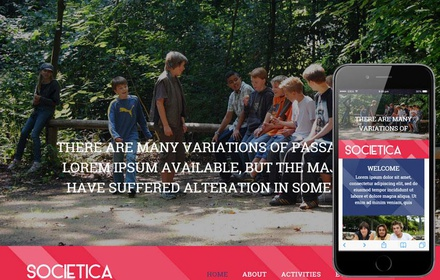 Societica a People and Society Flat Bootstrap Responsive Web Template