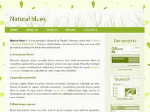 Natural Blues Free CSS Template