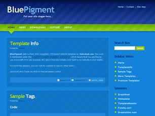 BluePigment 1.0 Free CSS Template