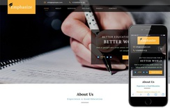 Emphasize an Education Category Bootstrap Responsive Web Template