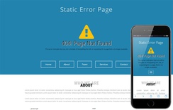Static Error Page a Flat Bootstrap Responsive Web Template