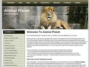 Animal Planet Free CSS Template