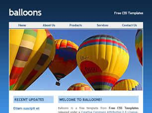Balloons Free CSS Template