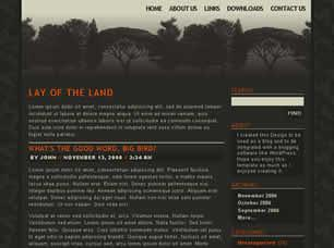 Lay of the Land Free CSS Template