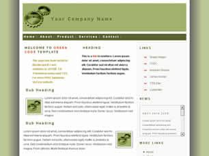 Green Cogs Free CSS Template