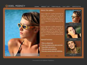 Model Agency Free CSS Template