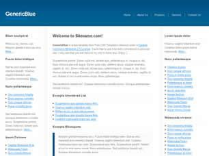 GenericBlue Free CSS Template