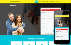 Match a Matrimonial Category Bootstrap Responsive Web Template