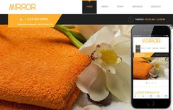 Mirror Beauty Parlour Mobile Website Template