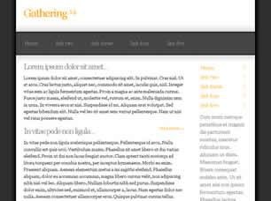 Gathering 14 Free CSS Template