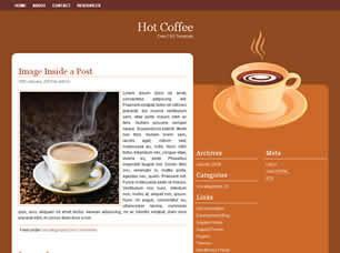 Hot Coffee Free CSS Template