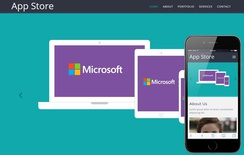 Appstore Responsive Mobile website template
