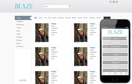 Blaze Ringtones Wallpapers Mobile website template