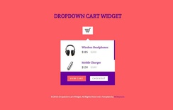 Dropdown Cart Responsive Widget Template
