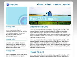 Silver Glow Free CSS Template