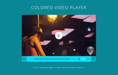 Colored Video Player a Flat Responsive Widget Template