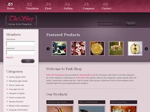 The Shop Free CSS Template