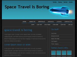 Space Travel Is Boring Free CSS Template