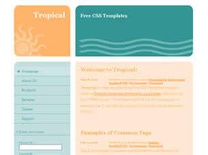 Tropical Free CSS Template