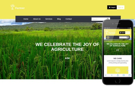 Former a Agriculture Category Flat Bootstrap Responsive web template