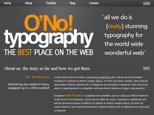 O No! Typography Free CSS Template