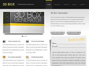 3D BOX Free CSS Template