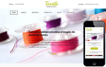 Textile a Industrial Category Flat Bootstrap Responsive Web Template