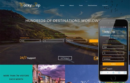 Wacky Trip a Travel Agency Category Bootstrap Responsive Web Template