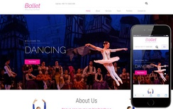 Ballet an Entertainment Category Bootstrap Responsive Web Template