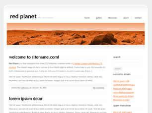Red Planet Free CSS Template
