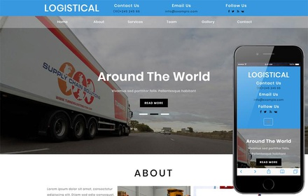 Logistical Transportation Category Bootstrap Responsive Web Template