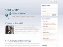Spheroids Free CSS Template