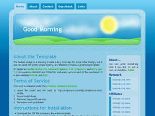 Good Morning Free CSS Template